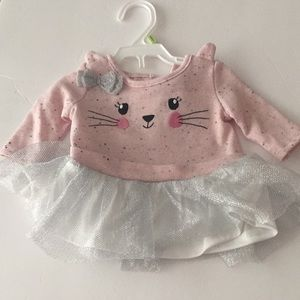 NWOT Little Lass 0/3 month tutu dress or top